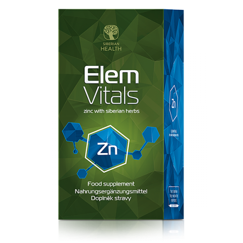 Food supplement Elemvitals. Zinc with siberian herbs, 60 capsules 500040