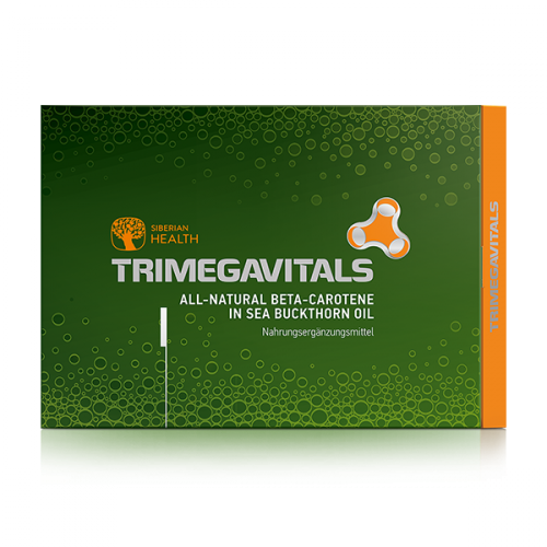 Supliment  alimentar Trimegavitals. All-Natural Beta-Caroten in Ulei de Catină, 30 capsule 500060