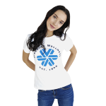 Siberian Wellness T-shirt for women (color: white, size: M)