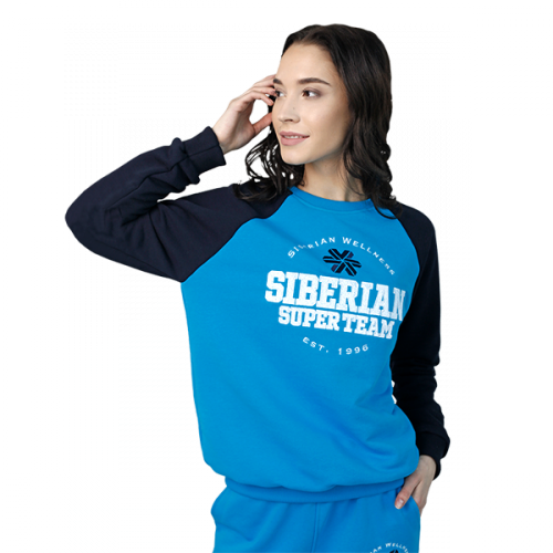 Siberian Super Team sweatshirt for women (color: blue; size: M) 107026