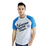 Siberian Super Team T-shirt for men (color: white, size: L)