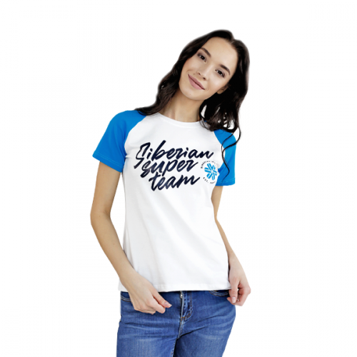 Siberian Super Team T-shirt for women (color: white, size: XS) 107076