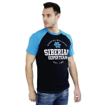 Siberian Super Team CLASSIC T-shirt for men (color: blue, size: L)
