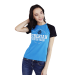 Siberian Super Team CLASSIC T-shirt for women (color: blue, size: M)
