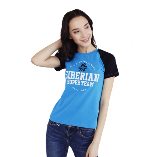 Siberian Super Team CLASSIC T-shirt for women (color: blue, size: XS) 107077