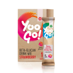 Yoo Go! Beta-glucan Drink Mix (Strawberry). Alcohol-free low-calorie drink with a sweetener, 70 g