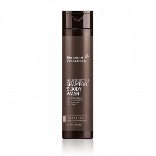 Siberian Wellness. Male Essentials Shampoo & Body Wash, 250 ml 411579