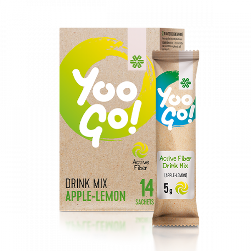 Yoo Go! Active Fiber Drink Mix (Apple-Lemon), 70 g 500543
