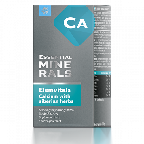 Complément alimentaire bio Elemvitals. Calcium with siberian herbs, 60 gélules 500054